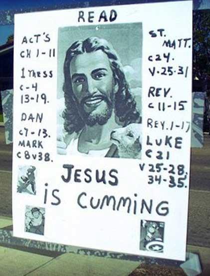 jesusiscumming